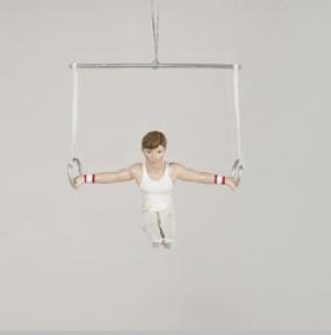 Boy Gymnast on Rings Resin Ornament