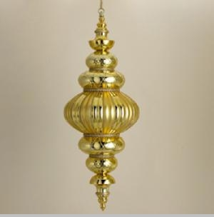 Outdoor Decorations - Shatterproof Gold Jumbo Finial Outdoor Ornament