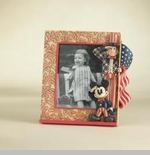Jim Shore Disney Traditions Patriotic Mickey & Uncle Sam Photo Frame