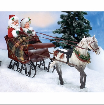 Possible Dreams Clothtique Santa - Sleighride Together With You