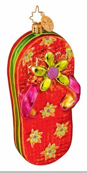 Christopher Radko Flip Flop Holiday - Red