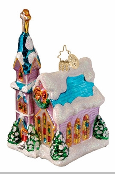 Christopher Radko Chapel Glow Ornament