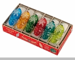 Shiny Brite Snowflake Pinecones Ornaments - Boxed Set of 6