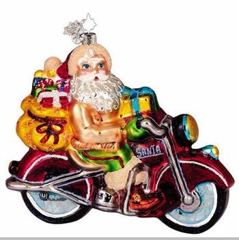 Christopher Radko Buckskin Biker Ornament - Biker Ornaments
