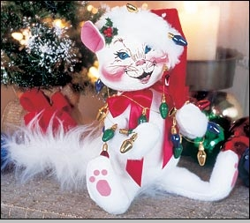 Annalee Kitty with Lights - 10""