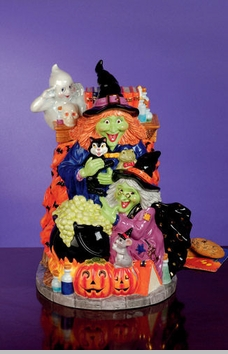 Christopher Radko Bewitching Sisters Cookie Jar SOLD OUT