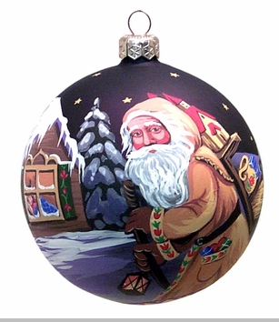 Pipka Handpainted Christmas Ornament - Polish Father Christmas
