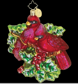 Christopher Radko Ornaments - Regal Red Birds - Cardinal Ornament