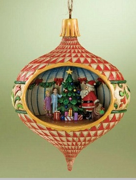 Jim Shore Heartwood Creek  Christmas Scene Diorama Hanging Ornament