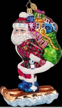 Christopher Radko Dashing Delivery Ornament - Skiing Ornaments