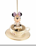 Lenox A Ride With Minnie Ornament - Minnie Teacup Ornament